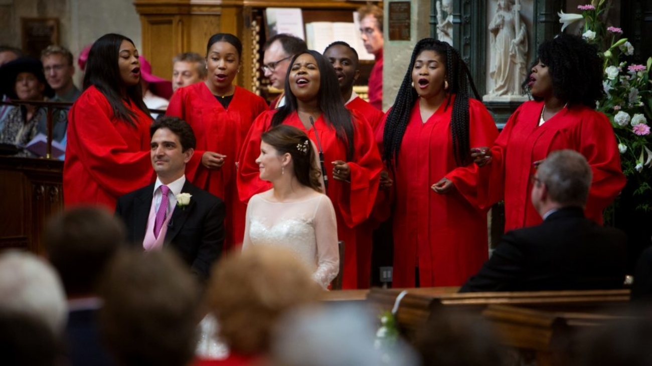 Gospel singers at Wedding